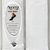 Следы мужские с сеткой Dursun Prestij Comfort, Турция, х/б, Белые, 40-45 размер