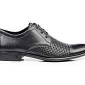 Мужские туфли кожаные - летние (064п)