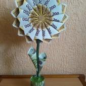 Денежный Топиарий - цветок счастья и богатства!