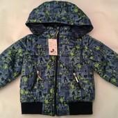 Детские демисезонные куртки-жилетки  для мальчиков,возраст 1-2-3 года