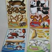 Мягкие пазлы 3 Д набор животных. Много видов!