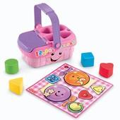 Fisher Price Смейся и учись Музыкальная корзинка для пикника сортер laugh&learn sweet sounds picnic