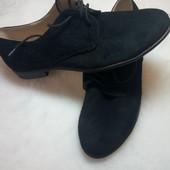 Натуральные замшевые ботиночки, 26 см. по стельке
