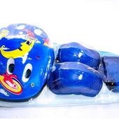 Комплект защиты детский: шлем, наколенники, налокотники, защита рук и кистей