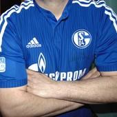 Спортивная оригинал футбольная футболка Adidas ф.к Шальке .л.