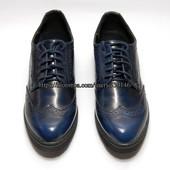 Женские туфли-броги на толстой подошве, лак Blink, р.40