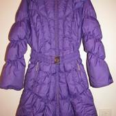 Зимнее пальто удлиненная куртка Huppa 134-145 рост