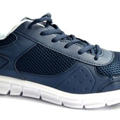 Кроссовки Мужские синие - сетка (К124)