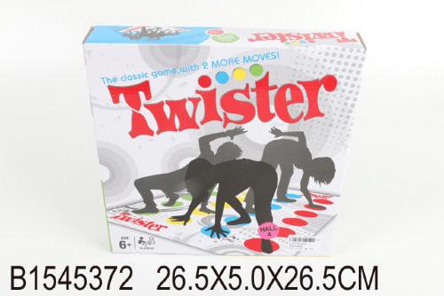 """Напольная игра """"twister"""" в коробке 26,5*5,0*26,5см фото №1"""