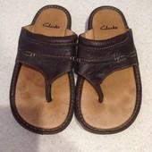 Мужские кожаные шлёпанцы Clarks 41р