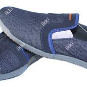Мужские летние джинсовые мокасины легкие (БЛ-09с)
