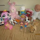 Игрушки Pet Shop мягкие, смурфик, лалалупсия куклы, ягодка и другое