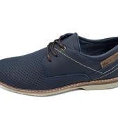 Мужские Мокасины с перфорацией Multi Shoes M4 синие