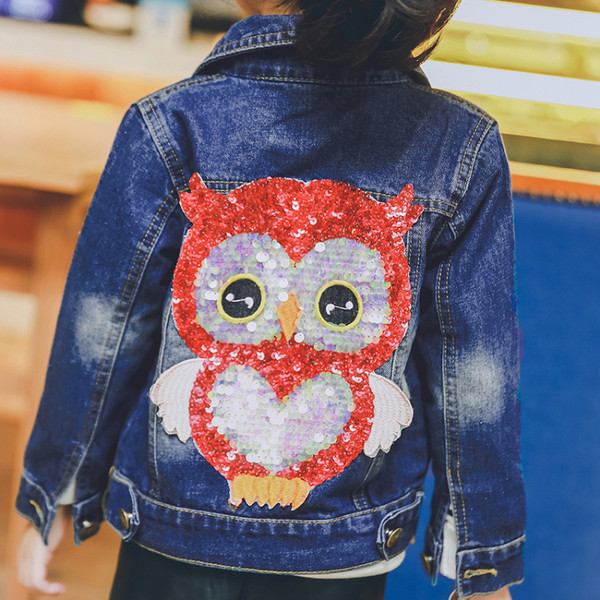Куртка джинсовая с апликацией сова 410034 фото №1