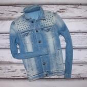 Джинсовая куртка Zara р. L