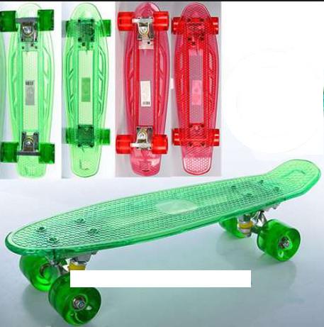 Скейт MS 0855-1 Пенни борд ( Penny Board),колеса светятся фото №1