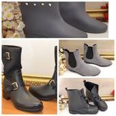 Резиновые сапоги ботинки для непогоды непромокаемые  короткие низкие 35-41 р