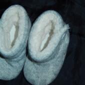Классные пинеточки-угги,длина подошвы 13 см на ножку до 12 см,сток