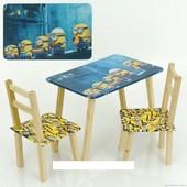 """Столик и два стульчика деревянные """"Миньон"""" С 074"""
