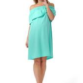 Воздушное модное платье для беременных и кормящих мам.