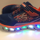 Кроссовки для мальчиков Skechers Gore & Strap Lighted Sneaker размеры 27-35