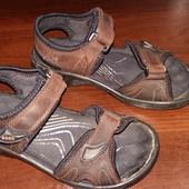 Детские кожаные босоножки, сандалии ECCO, размер 33, длина стельки 21 см.