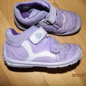 (№822)фирменные кожаные кроссовочки 23 р elefanten