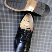 Новые кожаные туфли! Clark's оригинал 42-43 (стелька 28,5 см)