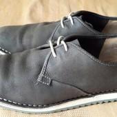 Кожаные туфли фирмы Clarks р.44-28см.
