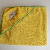 Полотенце махровое желтое 76х81 см