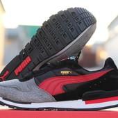 Кроссовки   Puma RX727  сірі з чорним
