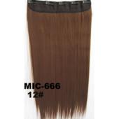 11-7/1 Волосы трессы / Цвет №12/ Затылочная прядь на заколках/ Прямые/ длина 55см