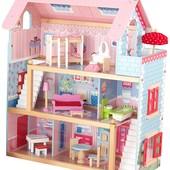 KidKraft Кукольный деревянный домик chelsea doll cottage with furniture 65054