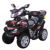 Детский квадроцикл M 0633EBR-2, черный (Eva колеса)