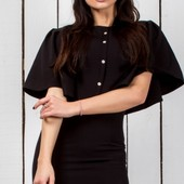 Элегантное черное женское платье весна-лето 2017