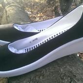 Текстильные туфельки балетки на танкетке