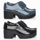 Туфли на шнурках из натур. кожи, две модели, р. 36-41, код vkso-2274