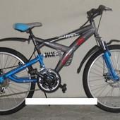 Горный спортивный велосипед 24 дюймов Azimut wind 306-G-FR/D-1 (оборудование shimano)серый
