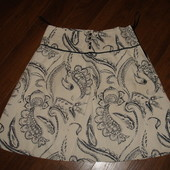 Фирменная стрейч юбка на 48 размер хлопок идеал