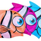 BW Шапочка 26025 для плавания в форме рыбки, 21-17,5см, 3+