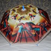 Зонтик зонт детский с яркими героями матовый яркий и весёлый Спайдермен Человек Паук