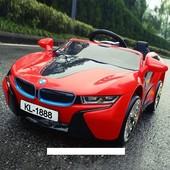 Электромобиль детский BMW 1888 (5068) красный