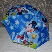 Зонтик зонт детский с яркими героями яркий и весёлый тканевый Микки Маус