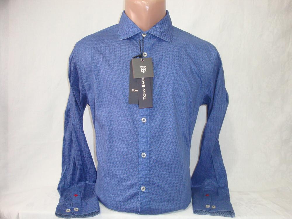 Мужская рубашка с длинным рукавом Tony Backer. Разные цвета. фото №1