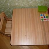 Создай творческую атмосферу для своего ребенка! Комплект стол+стул из натурального дерева.