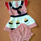 Летний костюмчик на девочку 1 - 2 года