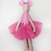 Мышка в стиле тильда Анжелина Балерина