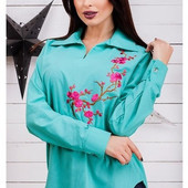 Рубашка с вышивкой в расцветках 42-46 (1б