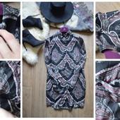 Шикарная удлиненная блуза BooHoo в восточном стиле,р-р С