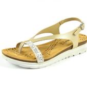 100-4T-054  Женская летняя обувь, босоножки, цвет-золото, Inblu Инблу, размеры 36-41